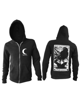 Nevermore   Zip Up Hoodie by Blackcraft Cult