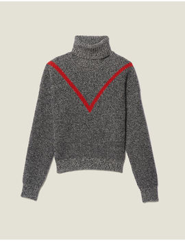 Roll Neck Marled Knit Sweater by Sandro Paris