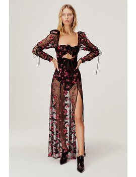 Blondie Embroidered Maxi Dress by For Love & Lemons