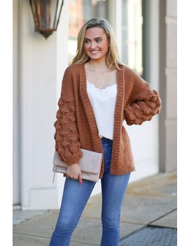 Francesca Bubble Sleeve Cardigan   Amber by Madison + Mallory