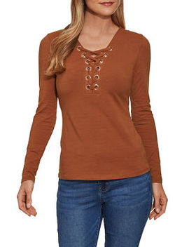 So Sexy™ Grommet Lace Top by Boston Proper