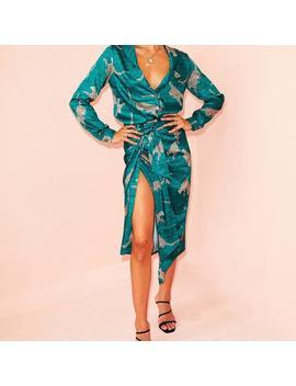 Green Cheetah Jaspre Skirt by Never Fully Dressed