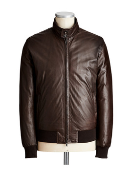 Reversible Leather Bomber Jacket by Fradi Reversible Leather Bomber Jacket