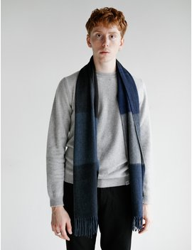 Norse X Begg Scarf Navy Multi Stripe by Norse Projects