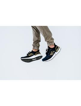 Adidas Ultra Boost 19 Consortium   Legendary Ink/Gold Metallic/Bright Red by Politics