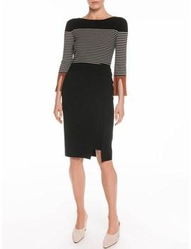 Split Sleeve Stripe Knit by Veronika Maine