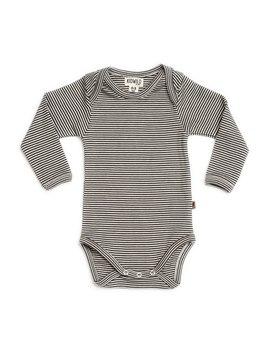 Organic Long Sleeve Bodysuit, Stripe by Spearmint Love