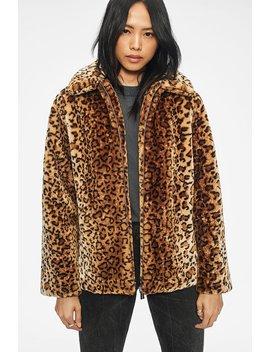 Molly Faux Fur Jacket   Leo by Anine Bing