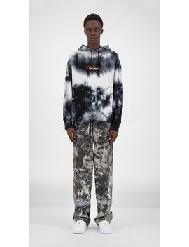 Black White Tie Dye Gadrie Hoody by Daily Paper
