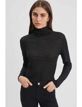 Tencel Polo Neck Top by Filippa K