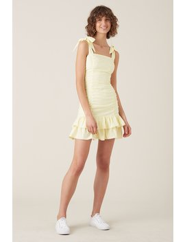 Tippi Short Dress   Lemon by Tigerlily