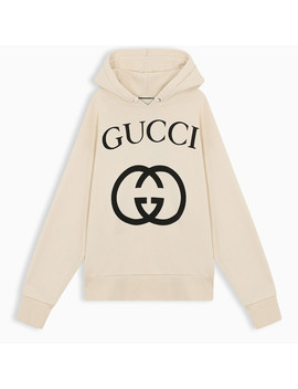 Hoodie With Gg Print by Gucci