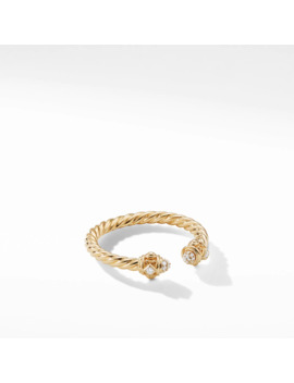 Renaissance Ring In 18 K Gold With Diamonds by David Yurman