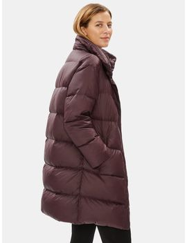 Recycled Nylon Funnel Neck Coat by Eileen Fisher