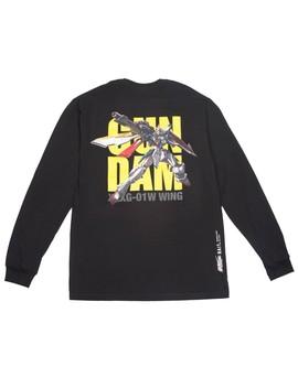 Bait X Gundam Universe Men Wing Gundam Long Sleeve Tee (Black) by Bait