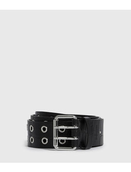 Andree Crocodile Leather Belt by Allsaints
