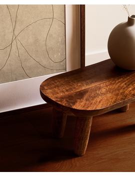 wooden-stool--furniture---bedroom by zara-home