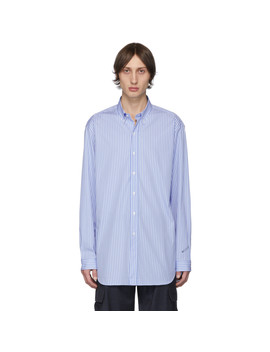 blue-&-white-stripe-anarchy-shirt by vetements
