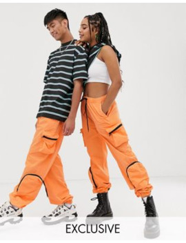 collusion---unisex---verbleekte-utility-joggingbroek by collusion