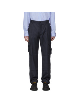 navy-check-cargo-pants by vetements