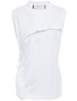 ruffled-cotton-jersey-tank by marni