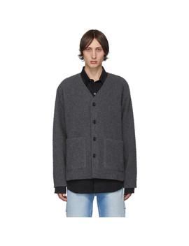 grey-wool-shaggy-cardigan by our-legacy