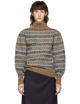 multicolor-knit-ned-fair-isle-sweater by isabel-marant-etoile
