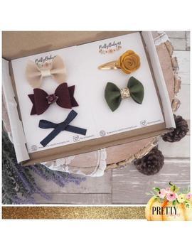10-pound-autumn_-fall-surprise-box-cheap-random-selection-bows-and-headbands-fox,-acorn,-etc by etsy