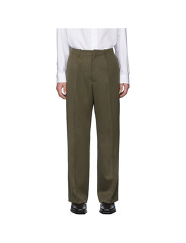 brown-wool-borrowed-chino-trousers by our-legacy