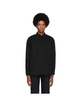 black-twill-big-pocket-long-sleeve-shirt by blue-blue-japan