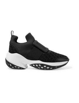 viv-run-neoprene,-mesh-and-leather-sneakers by roger-vivier