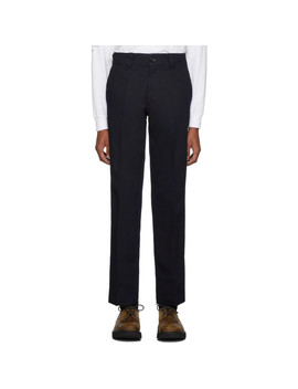indigo-twill-straight-slim-trousers by blue-blue-japan