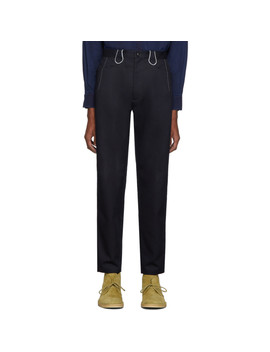 indigo-twill-piped-trousers by blue-blue-japan