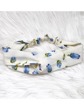 headband-for-women----blue-tulip---floral---turban---hair-accessories---headwrap---twisted-headband---adult-headband by etsy