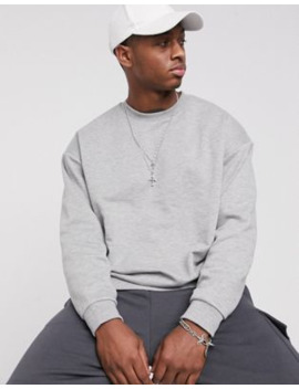 gråmeleret-oversized-sweatshirt-fra-asos-design by asos-design
