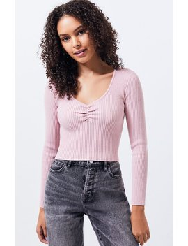 la-hearts-long-sleeve-cinched-sweater-top by pacsun