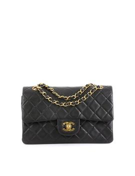 classic-flap-vintage-classic-double-quilted-lambskin-small-satchel by chanel