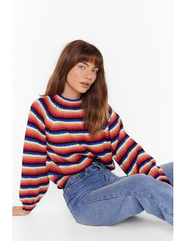 get-knit-stripe-balloon-sleeve-cropped-sweater by nasty-gal