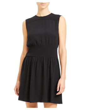 sleeveless-georgette-blouson-dress by theory