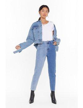 it-takes-two-tone-denim-mom-jeans by nasty-gal