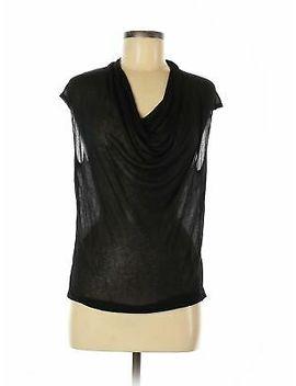 nwt-helmut-women-black-short-sleeve-top-m by helmut