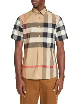 somerton-plaid-button-up-shirt by burberry