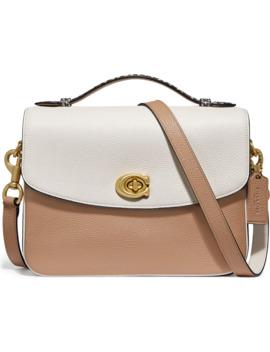 cassie-leather-&-genuine-python-crossbody-bag by coach