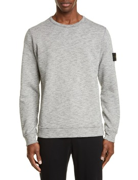 mélange-fleece-crewneck-sweatshirt by stone-island