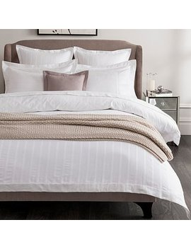 5a-fifth-avenue-herringbone-300-thread-count-100%-cotton-white-duvet-cover by dunelm