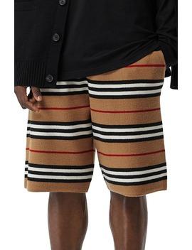 icon-stripe-bermuda-knit-wool-shorts by burberry