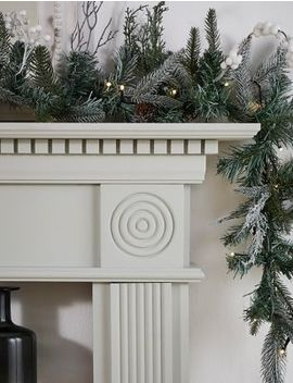 12ft-pre-lit-snowy-garland by marks-&-spencer