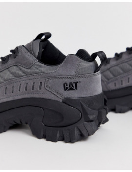 cat-intruder-chunky-sole-trainers-in-grey-suede by cat