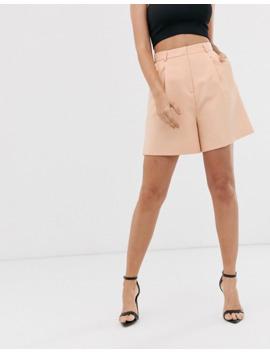 asos-design-mom-suit-shorts-in-camel by asos-design