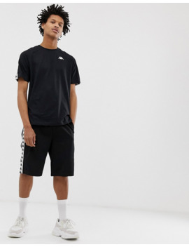 kappa-banda-coen-t-shirt-with-logo-taping-in-black by kappa